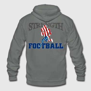 Strength in Football - Unisex Fleece Zip Hoodie