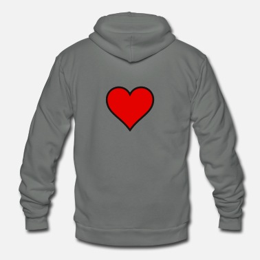 Red Heart RED HEART - Unisex Fleece Zip Hoodie