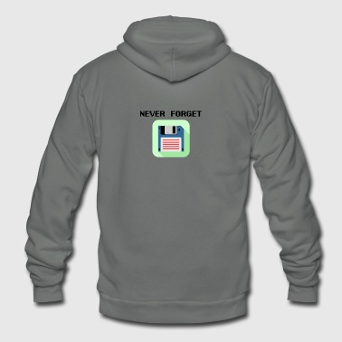 Never forget floppy disk - Unisex Fleece Zip Hoodie