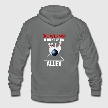 bowling alley - Unisex Fleece Zip Hoodie