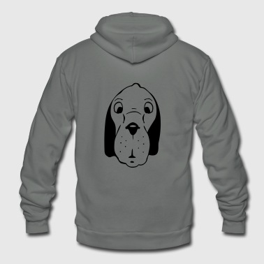 dog head - Unisex Fleece Zip Hoodie