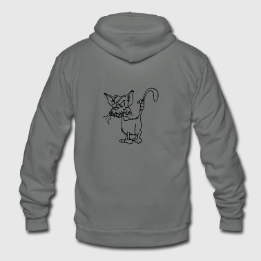 Alley Cat - Unisex Fleece Zip Hoodie