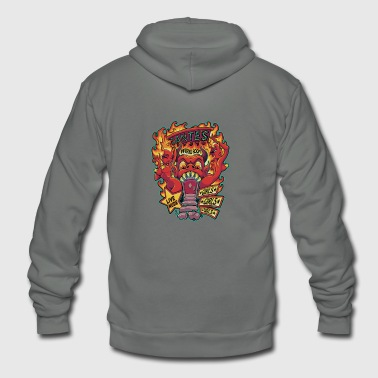 Dante s Inferno Room - Unisex Fleece Zip Hoodie