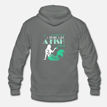 Mermaid Mermaid - Unisex Fleece Zip Hoodie