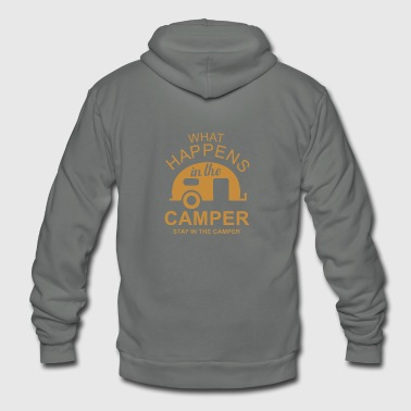 What Happens In Camper Stays In Camper Vintage Sty - Unisex Fleece Zip Hoodie