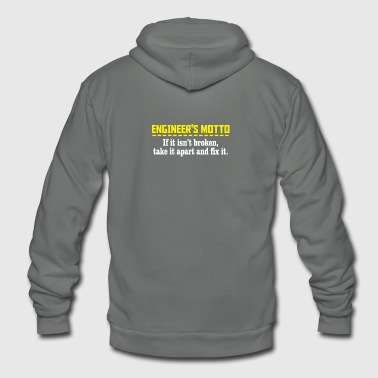 engineers motto - Unisex Fleece Zip Hoodie