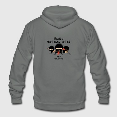 Mixed Martial Arts and Crafts - Unisex Fleece Zip Hoodie