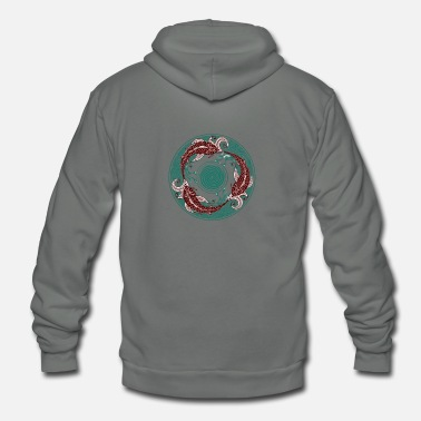 Circular Circular Swimming - Unisex Fleece Zip Hoodie