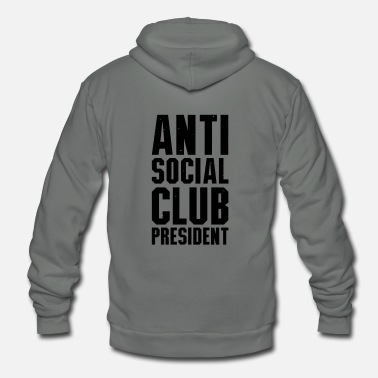 Social Anti social club president - Unisex Fleece Zip Hoodie