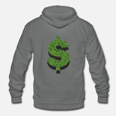 Dollar Sign Dollar - Unisex Fleece Zip Hoodie
