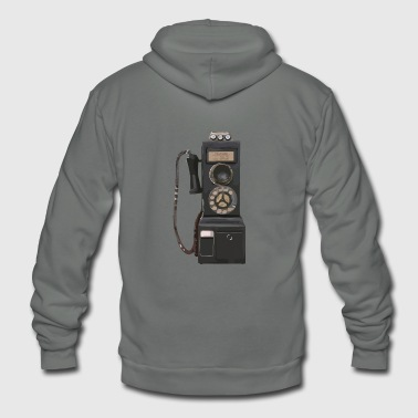 pay phone2 - Unisex Fleece Zip Hoodie