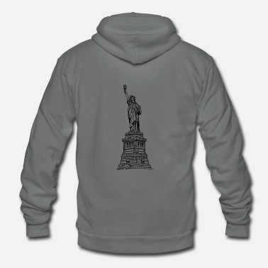 Statue Of Liberty statue of liberty - Unisex Fleece Zip Hoodie
