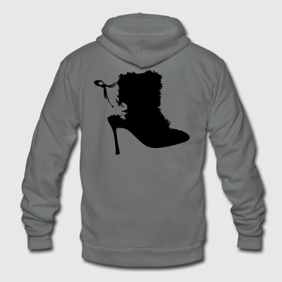 Vector Highheels silhouette - Unisex Fleece Zip Hoodie by American Apparel