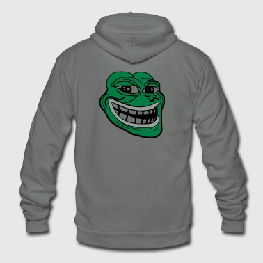 Pepe the Troll Frog - Unisex Fleece Zip Hoodie by American Apparel