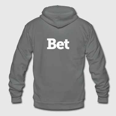 Bet on me - Unisex Fleece Zip Hoodie by American Apparel