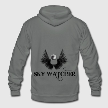 sky watcher - Unisex Fleece Zip Hoodie by American Apparel