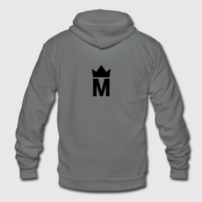Simple Majesty Logo - Unisex Fleece Zip Hoodie by American Apparel
