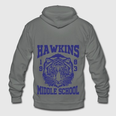 Hawkins Middle School 1983 Tiger - Unisex Fleece Zip Hoodie