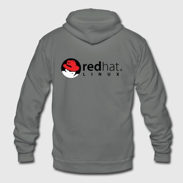 Red Hat Linux White Red Black - Unisex Fleece Zip Hoodie