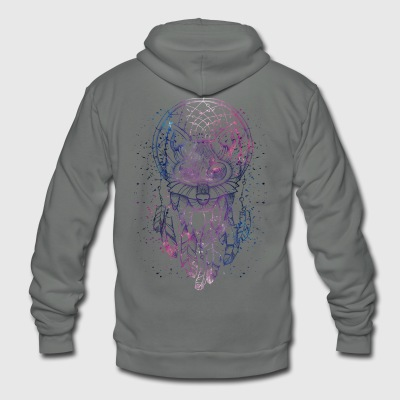 Husky Dream catcher - Unisex Fleece Zip Hoodie by American Apparel