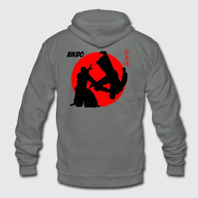Aikodo Japanese Martial Arts Shirt - Unisex Fleece Zip Hoodie by American Apparel