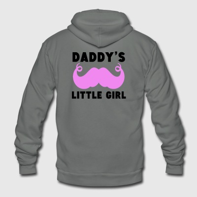 Daddy's Little Girl Mustache - Unisex Fleece Zip Hoodie by American Apparel