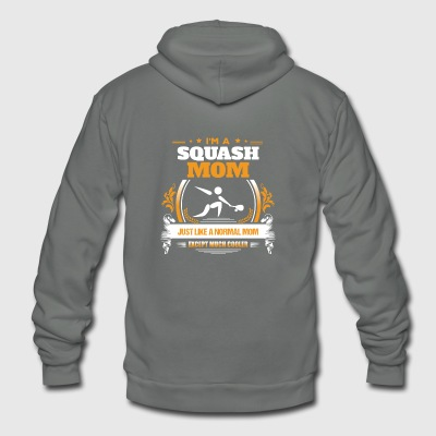 Squash Mom Shirt Gift Idea - Unisex Fleece Zip Hoodie by American Apparel