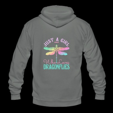 Dragonfly Just A Girl Who Loves Dragonflies - Unisex Fleece Zip Hoodie