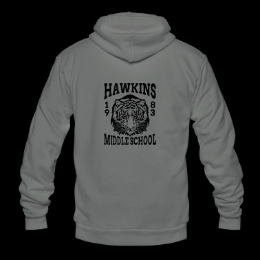 New Design HAWKINS MIDDLE SCHOOL - Unisex Fleece Zip Hoodie