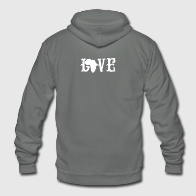 Love Africa Shirt - Unisex Fleece Zip Hoodie by American Apparel