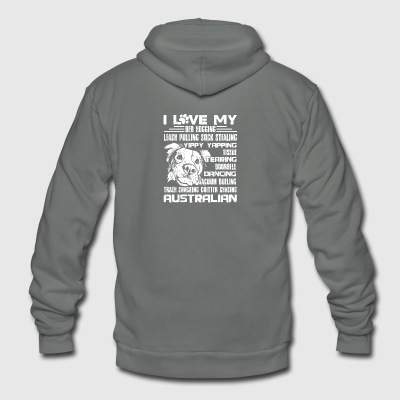 Australian Shepherd Lover Shirt - Unisex Fleece Zip Hoodie by American Apparel