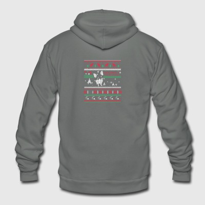 Chihuahua through the snow - Unisex Fleece Zip Hoodie by American Apparel
