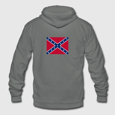 Confederate Flag - Unisex Fleece Zip Hoodie by American Apparel
