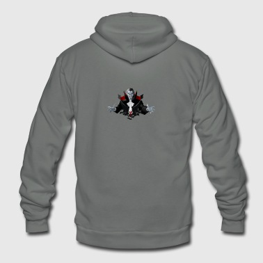 Count Dracula Vampire Monster Bat - Unisex Fleece Zip Hoodie