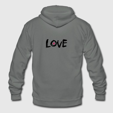 love - Unisex Fleece Zip Hoodie by American Apparel