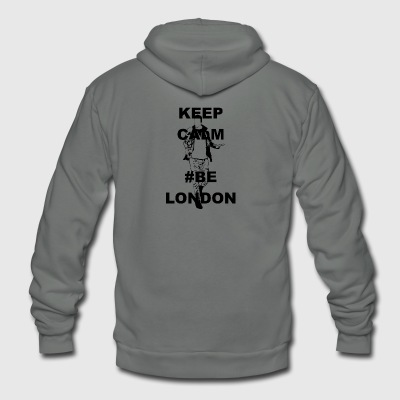 Keep Calm Be London - Unisex Fleece Zip Hoodie by American Apparel