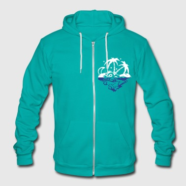An island in the sea - Unisex Fleece Zip Hoodie