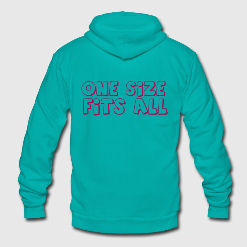 one size fits all - Unisex Fleece Zip Hoodie