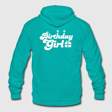 birthday girl new with present - Unisex Fleece Zip Hoodie