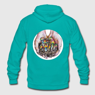 Magic mushrooms - Unisex Fleece Zip Hoodie by American Apparel