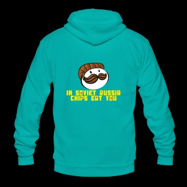 Chips parody in soviet Russia - Unisex Fleece Zip Hoodie