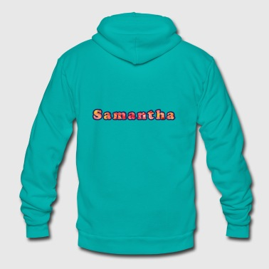 Samantha - Unisex Fleece Zip Hoodie by American Apparel