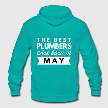 The best Plumbers are born in May - Unisex Fleece Zip Hoodie