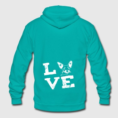 chihuahua Dog Race Love Gift - Unisex Fleece Zip Hoodie