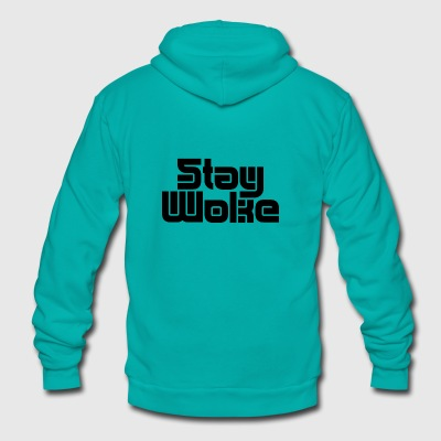 Stay Woke - Unisex Fleece Zip Hoodie by American Apparel