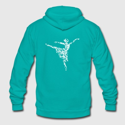 dancer hearts3 - Unisex Fleece Zip Hoodie by American Apparel
