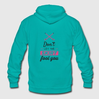 Girls Field Hockey Shirt, Don't Let the Skirt - Unisex Fleece Zip Hoodie
