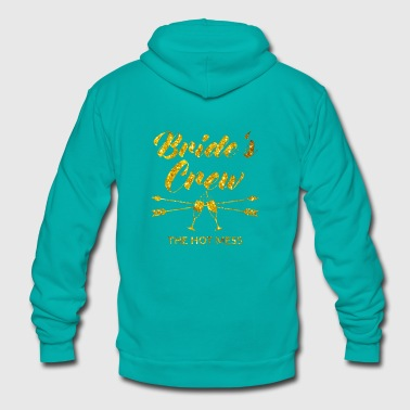 Perfect Brides Crew Bachelorette Party with golden - Unisex Fleece Zip Hoodie