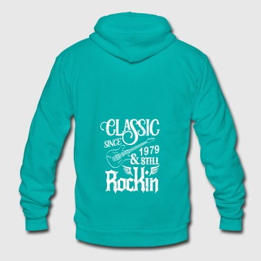 Classic Since 1979 And Still Rockin - Unisex Fleece Zip Hoodie