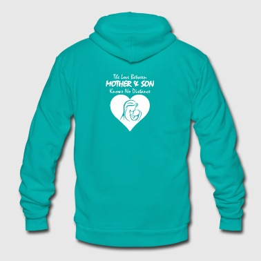 The Love Between Mother And Son Knows No Distance - Unisex Fleece Zip Hoodie by American Apparel